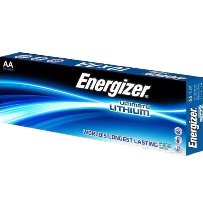 10 סוללות ליתיום - ENERGIZER ULTIMATE LITHIUM - AA 1.5V ENERGIZER