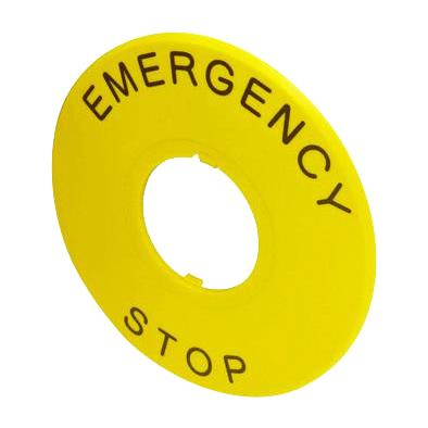 MULTICOMP EMERGENCY STOP SWITCH LEGENDS & FINGER GUARDS