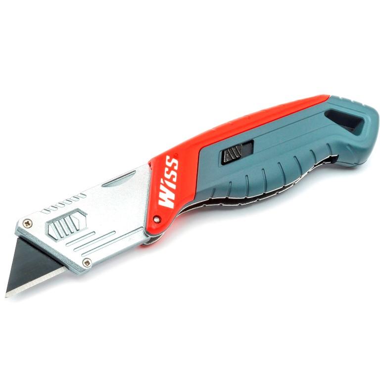 WISS QUICK-CHANGE FOLDING BLADE UTILITY KNIFE - WKAR2