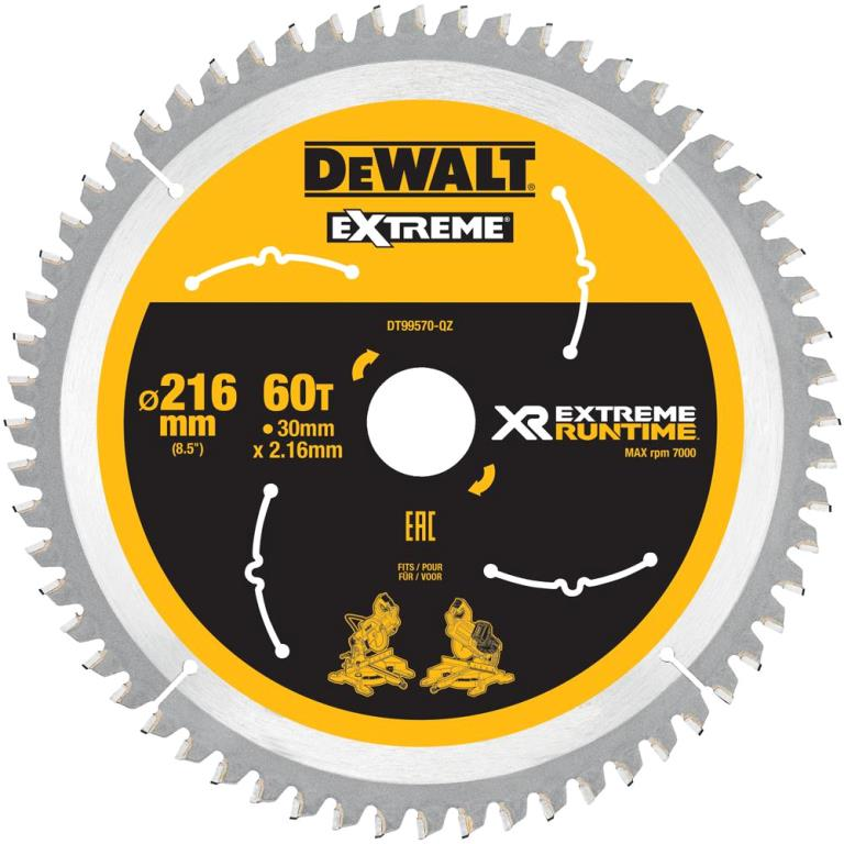 DEWALT 1800W SLIDE MITRE SAW WITH XPS - DWS777