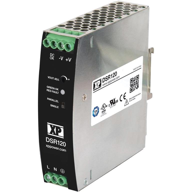 XP POWER DIN RAIL MOUNT INDUSTRIAL POWER SUPPLIES - DSR120 SERIES