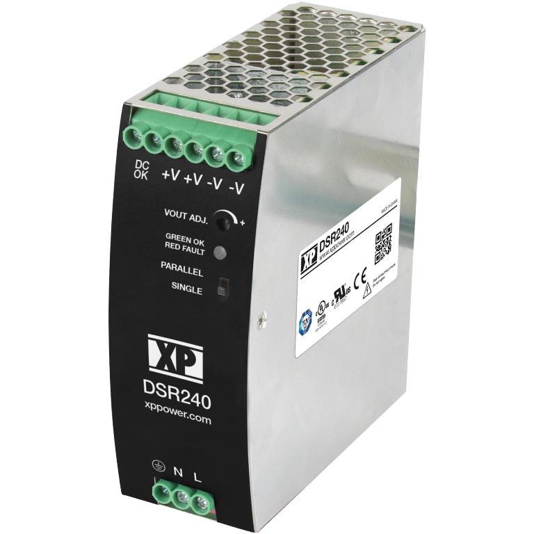 XP POWER DIN RAIL MOUNT INDUSTRIAL POWER SUPPLIES - DSR240 SERIES