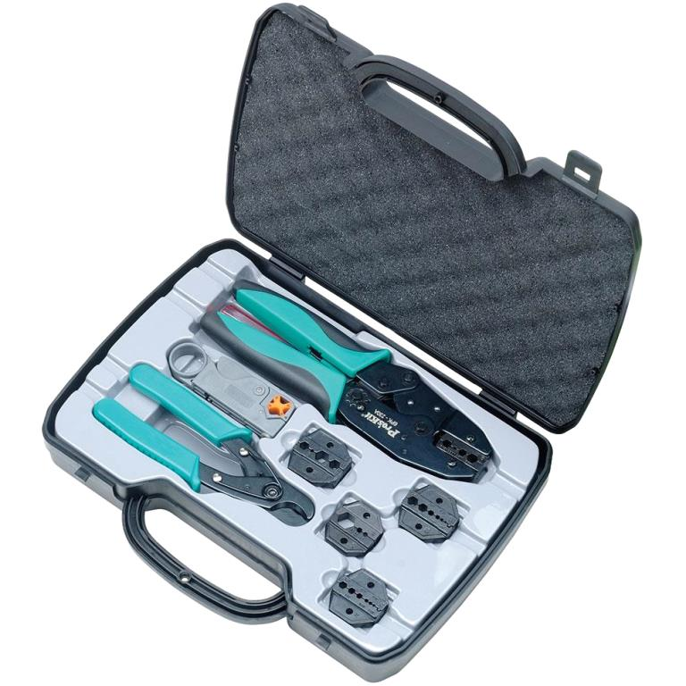 PROSKIT COAXIAL CABLE CRIMPING TOOL KIT - 6PK-330K