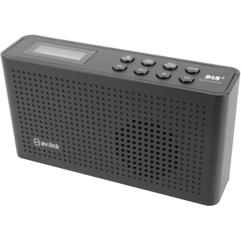 AV:LINK PORTABLE FM/DAB+ RADIO WITH RECHARGEABLE BATTERY - 120.200