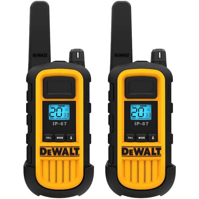 DEWALT HEAVY DUTY WALKIE TALKIES - DXPMR800