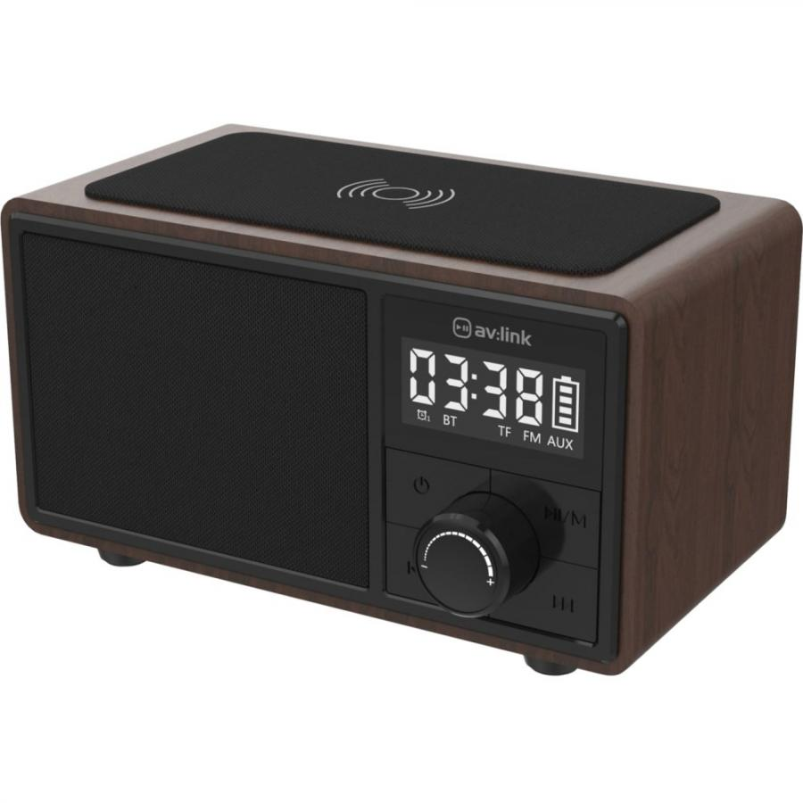 AV:LINK FUSION BLUETOOTH SPEAKER WITH CLOCK RADIO & CHARGING PAD - 120.220