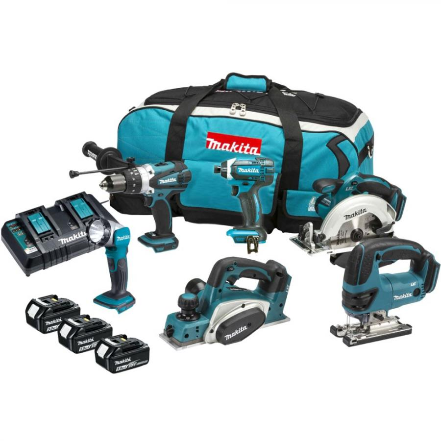 MAKITA 6PCS 18V CORDLESS TOOL KIT - DLX6047PT