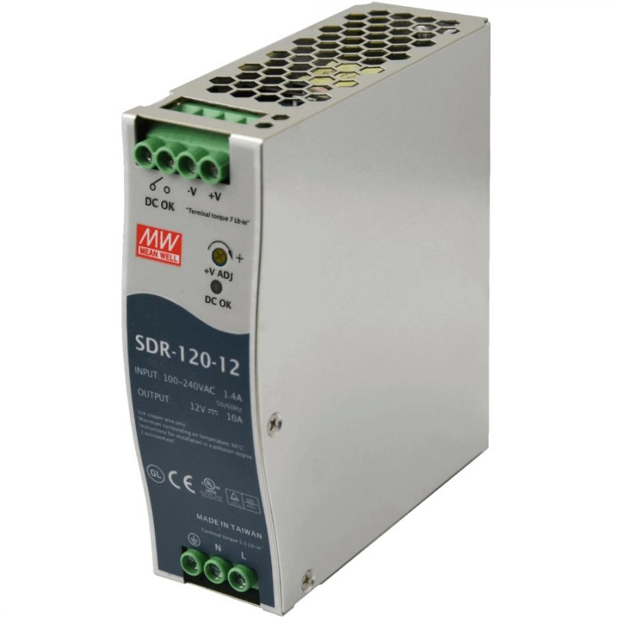 MEAN WELL DIN RAIL MOUNT INDUSTRIAL POWER SUPPLIES - SDR SERIES
