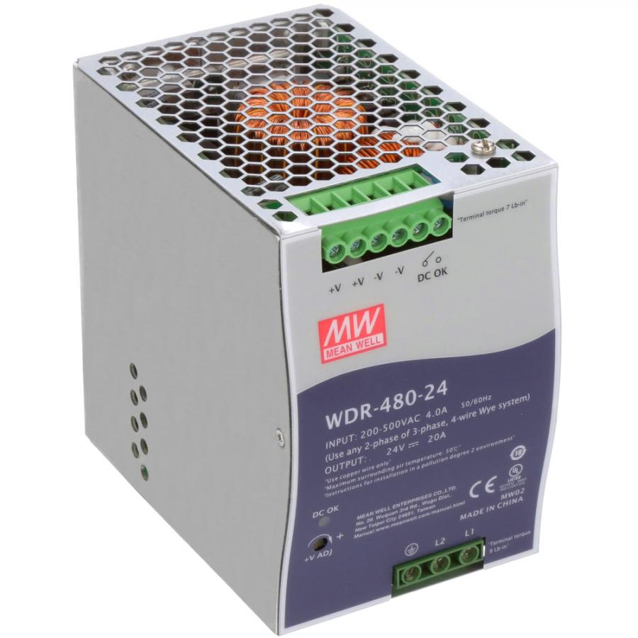 MEAN WELL DIN RAIL MOUNT INDUSTRIAL POWER SUPPLIES - WDR SERIES