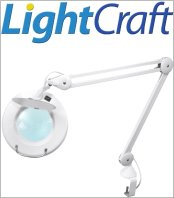 זכוכיות מגדלת שולחניות עם תאורה LIGHTCRAFT