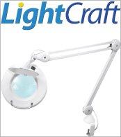 זכוכיות מגדלת שולחניות עם תאורה LIGHTCRAFT