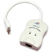 כבל מתאם - USB 2.0 ~ ETHERNET