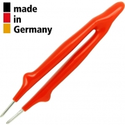 פינצטה מקצועית - 145MM - ROUND & STRONG - SERRATED TIPS