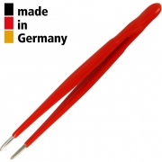 פינצטה מקצועית - 155MM - ROUND & BLUNT - SERRATED TIPS