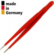 פינצטה מקצועית - 200MM - ROUND & BLUNT - SERRATED TIPS