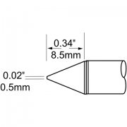 ראש לידית מלחם - METCAL SCV-CN05 - CONICAL 0.5MM
