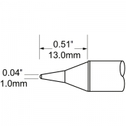 ראש לידית מלחם - METCAL SCV-CNL10 - CONICAL 1MM